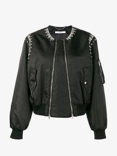 GIVENCHY Rhinestone Embellished Bomber Jacket. #givenchy #cloth #