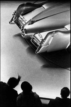 1951 Buick La Sabre Concept at 1953 Motorama Car Show.  Photograph by Dennis Stock
