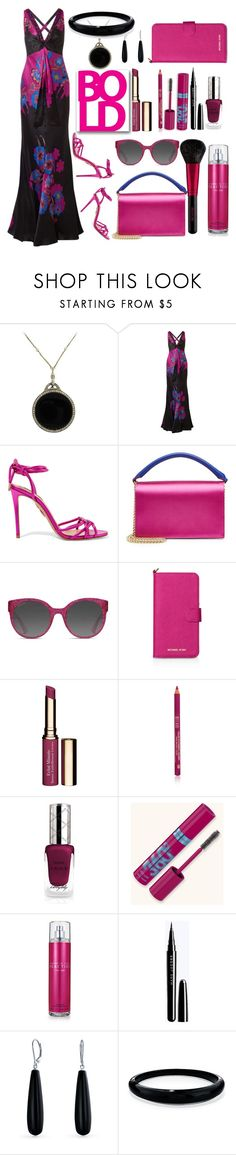 """""""Untitled #929"""" by colonae ❤ liked on Polyvore featuring Etro, Aquazzura, Diane Von Furstenberg, Gucci, MICHAEL Michael Kors, Clarins, Revlon, By Terry, Kenneth Cole Reaction and Bling Jewelry"""