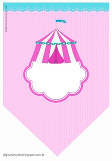 KIT DIGITAL ANIVERSÁRIO CIRCO ROSA, LILÁS E AMARELO - Convites Digitais Simples Clown Party, Circus Party, Baby Dumbo, Circus Clown, Ramadan Decorations, Bunting Flags, Carnival, Girly, Printables
