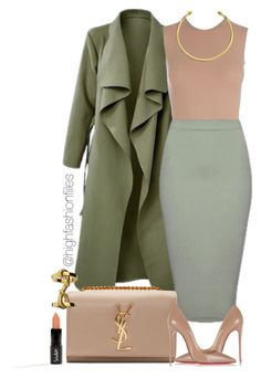 """Khaki?"" by highfashionfiles ❤ liked on Polyvore featuring Maison Margiela…"