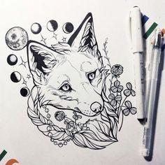 Épinglé par mors_ik sur sketches of tattoos en 2019 эскиз та Tattoo Sketches, Tattoo Drawings, Body Art Tattoos, Art Sketches, Animal Sketches, Animal Drawings, Fuchs Tattoo, Hipster Tattoo, Fox Drawing
