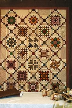 Aunt Maggie's Patchwork Quilt made by Sonja Kraus for Lone Star House of Quilts. 2010