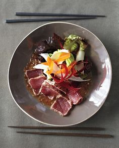 Seared tuna dish