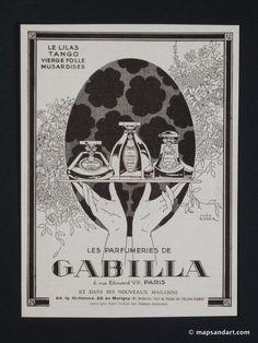 Gabilla Perfumes 1920s L'Illustration