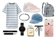 """tumblr inspired #ootd #tumblr #polyvore"" by dorienvdm ❤ liked on Polyvore featuring Lacoste L!VE, adidas, Mudd, Alex and Ani, CLUSE and Joomi Lim"