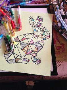 * * *La boite à idées de l atelier 3B* * *: Lapinou en graphisme