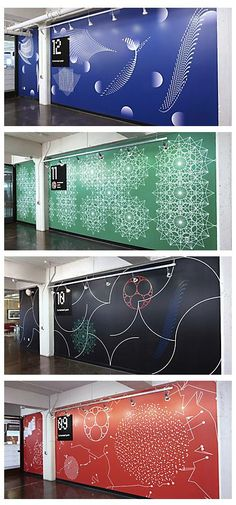 Awesome Accent Wall Ideas For Your chic home, bedroom, small living room, color combinations, paint pattern Web Banner Design, Wall Design, Design Design, Wayfinding Signage, Signage Design, Office Signage, Environmental Graphic Design, Environmental Graphics, Office Interior Design