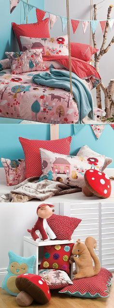 These fabrics work beautifuly together. Find more inspirations at www.circu.net #kidsroom #moderndesign #kidsdecorideas