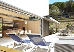 Vivienda Unifamiliar en Tamariu, Girona Outdoor Furniture, Outdoor Decor, Sun Lounger, Home Decor, Architecture, Log Projects, Corten Steel, Ground Floor, Houses