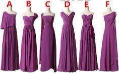 long bridesmaid dresses purple bridesmaid dresses by sweetydress, $119.00