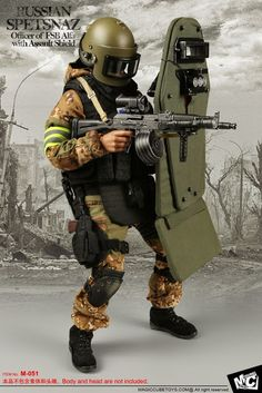 toyhaven: MC Toys scale Russian Spetsnaz Officer of FSB Alfa with Assault Shield looks really COOL Tactical Equipment, Military Equipment, Mc Toys, Tactical Armor, Combat Armor, Military Action Figures, Airsoft Helmet, Future Soldier, Military Weapons