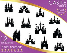 Hey, I found this really awesome Etsy listing at https://www.etsy.com/listing/516961527/12-silhouettes-princess-castle-tower