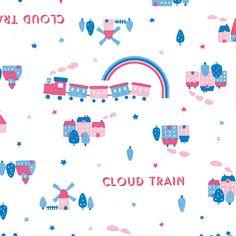 Retro Design, Childhood, Clouds, Fancy, Train, Japanese, Memories, Memoirs, Infancy