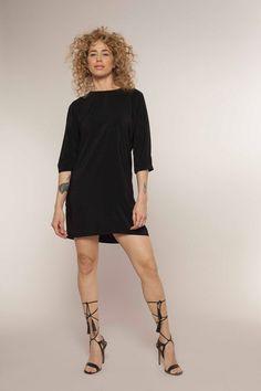 Niki  Shirt dress Easy Shift dress Black Dress by ElianaStudio