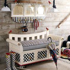 MacKenzie-Childs - cute for mud room - I love Mackenzie Childs whimsy