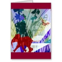 Naughty elephant vertical card tarjeta de felicitación | Zazzle