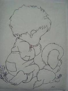 riscos de bebe menino para pintura em fralda - Google Search
