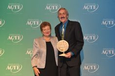 John Foster, CEO of NOCTI, receives the 2014 ACTE Image Award.
