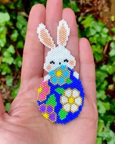 Peyote Stitch Patterns, Beading Patterns Free, Seed Bead Patterns, Hama Beads Design, Diy Perler Beads, Bead Embroidery Jewelry, Beaded Embroidery, Seed Bead Crafts, Diy Jewelry Projects