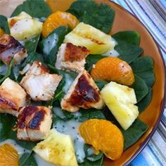 """Grilled Pineapple Salad 