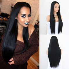 The Best Esin 26 Inch Long Blend Natural Hair Wig Long Body Wave Black Wigs With Bangs For White Women Imitation Top Wigs 4 Colors Fragrant Flavor In