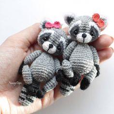 racoon crochet