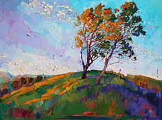 Painting - Windy Hill by Erin Hanson