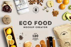 Eco Food Mockup Scene Creator, PSD mockups