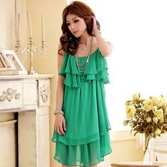 Buy 'JK2 – Sleeveless Ruffled Chiffon Dress' at YesStyle.com plus more China items and get Free International Shipping on qualifying orders.