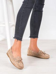 Neformálne béžové mokasíny Espadrilles, Slippers, Flats, Shoes, Fashion, Espadrilles Outfit, Loafers & Slip Ons, Moda, Zapatos