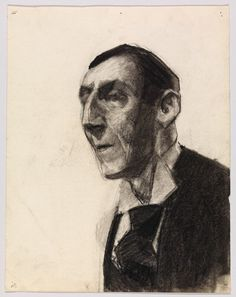 Edward Hopper, Portrait of a Man in Tie, 1899-06