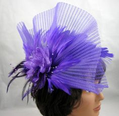 Purple Pleated Fantasy Fascinator Kentucky Derby by ThatsaHat - I like the name of the hat almost as much as the hat