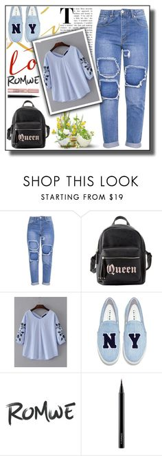 """Romwe contest"" by melika11 ❤ liked on Polyvore featuring Charlotte Russe, Joshua's, L'Oréal Paris and MAC Cosmetics"