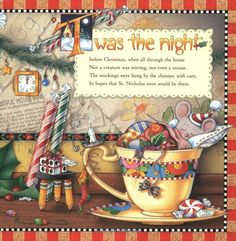 The Night Before Christmas: Amazon.co.uk: Clement Clarke Moore, Mary Engelbreit: Books