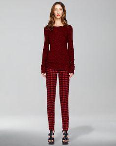 Samantha Skinny Buffalo Plaid Pants by Michael Kors at Neiman Marcus.