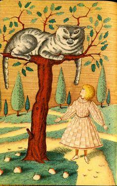 "Illustration for ""Alice in Wonderland"" by Russian(?) artist Khodozhnik S. Goloshchapov. via 2headedsnake"