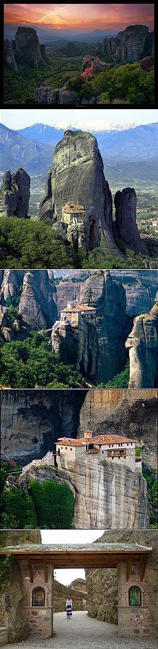 Греция, Метеоры (на карте, , видео) – монастыри на вершинах скал или вершины святости. | Греция