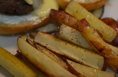 Oven-baked red potato fries