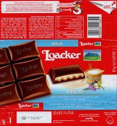 tablette de chocolat lait fourré loacker lait et gaufrette croustillante