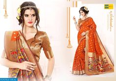 Shop Now Most Beautiful Looking Earth Hariett #Silk Fabrics #Sarees at affordable price only at @Textiledeals
