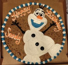 Olaf Cookie Cake