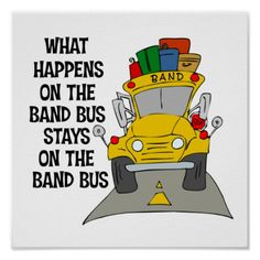 Band Bus Funny Poster