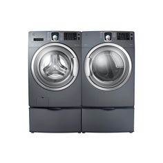 Kenmore Elite 5.2 cu. Ft. Front-Load Washer and 7.5 cu. Ft. Electric Dryer - Stratus Grey