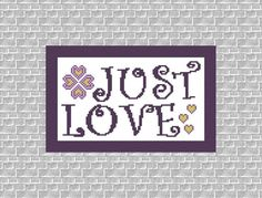 Instant Download.PDF Pattern. Just Love. by TurquoiseGraphics, $4.00