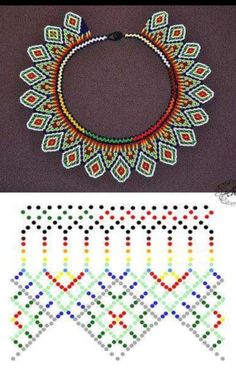 Jewelry Art, Beaded Jewelry, Handmade Jewelry, Blackwork Embroidery, Embroidery Patterns, Hama Beads, Seed Beads, Diy Necklace Patterns, Soda Can Crafts