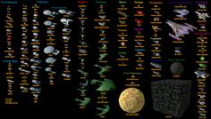 All the Starships from the Star Trek Universe.