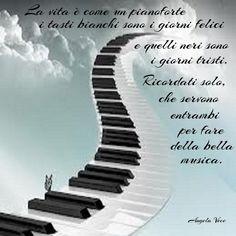 La vita è come un pianoforte Music Instruments, Tv, Sad, Pictures, Musica, Musical Instruments, Television Set, Television