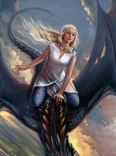 Daenerys by Vesea on DeviantArt – winter is coming Arte Game Of Thrones, Game Of Thrones Artwork, Game Of Thrones Dragons, Game Of Thrones Fans, Daenerys Targaryen Art, Khaleesi, Game Of Thones, Dragon Rider, Mother Of Dragons