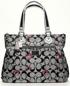 COACH POPPY SIGNATURE GLAM - All Handbags - Handbags  amp  Accessories - Macy s  Purses And a55130a242c7a